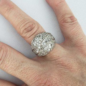 925 Sterling CZ Silver Ring Size 7
